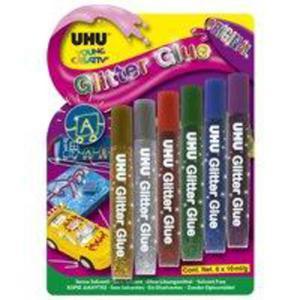 Klej UHU Creative Glitter Glue Original 6e x1
