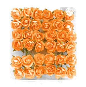 Róże papierowe 1cm pomarańczowe x144