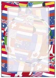 Dyplom A4 170g Flagi x25