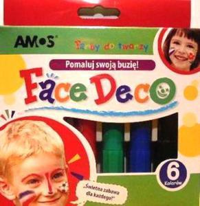 Farby do malowania twarzy Amos 6kol x1