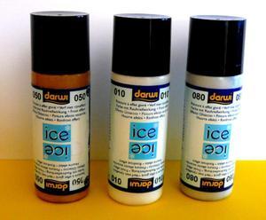 Farba do szkła 80ml Darwi ICE - złota x1