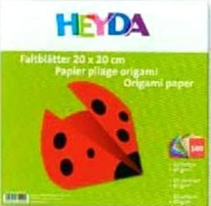 Papier do origami 10x10cm Heyda x100