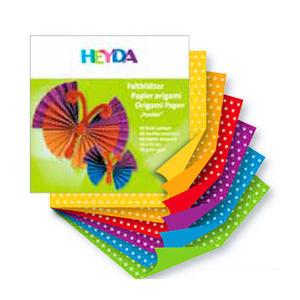 Papier do origami 20x20cm Heyda kropki x66