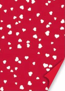 Karton A4 200g Heyda serca 20 czerwony/białe x1 - 2824960996