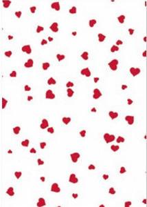 Karton A4 200g Heyda serca 21 biały/czerwone x1