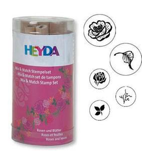 Stemple Heyda - zestaw Róże i Liście 5e x1