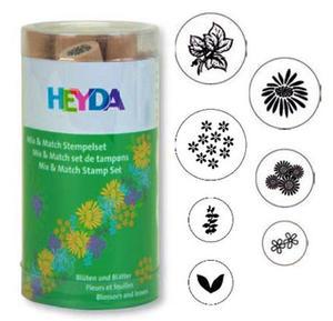 Stemple Heyda - zestaw Kwiatki i Liście 7e x1 - 2824961019