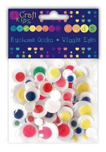 Oczka ruchome okrągłe kolorowe 75e x1