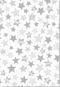 Kalka A4 115g Heyda gwiazdy srebrne x1