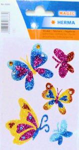 Naklejki HERMA Magic 6666 motylki brokatowe x1