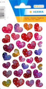 Naklejki HERMA Magic 3256 serca z gwiazdkami x1