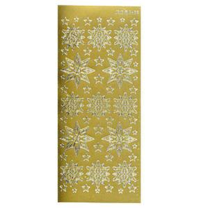 Sticker złoty 02426 - śnieżynki x1 - 2843439530