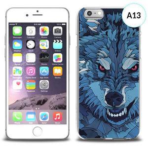 Etui silikonowe z nadrukiem iPhone 6 - mroźny wilk - 2834655654
