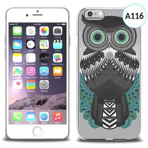 Etui silikonowe z nadrukiem iPhone 6 - wystraszona sowa - 2834655663