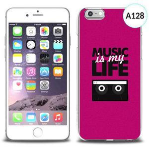 Unikalne etui silikon na telefon z nadrukiem do iPhone 6 - music is my life - 2834655667