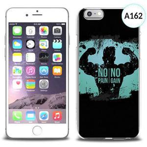 Etui silikonowe z nadrukiem iPhone 6 - no pain no gain - 2834655682