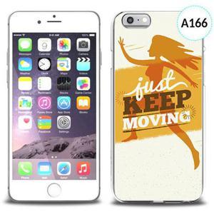 Unikalne etui silikon na telefon z nadrukiem do iPhone 6 - just keep moving - 2834655684