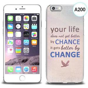 Etui silikonowe z nadrukiem iPhone 6 - your life doesn't get better by chance - 2834655694