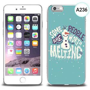 Etui silikonowe z nadrukiem iPhone 6 - olaf some people are worth melting - 2834655706