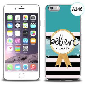 Etui silikonowe z nadrukiem iPhone 6 - believe in yourself - 2834655709
