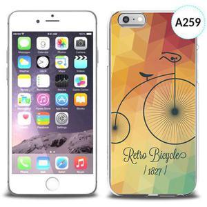 Etui silikonowe z nadrukiem iPhone 6 - retro bicycles - 2834655711
