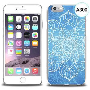 Etui silikonowe z nadrukiem iPhone 6 - szkicowany niebieski kwiat - 2834655721