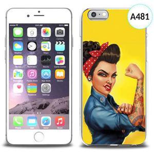 Etui silikonowe z nadrukiem iPhone 6 - silna kobieta - 2834655774