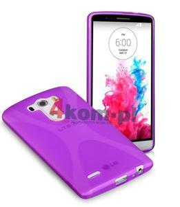 ETUI X-SHAPE LG G3 - Fioletowy - 2825178092