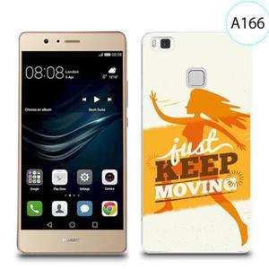 Etui silikonowe z nadrukiem do Huawei P9 Lite - just keep moving - 2834655831