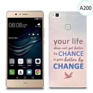 Etui silikonowe z nadrukiem do Huawei P9 Lite - your life doesn't get better by chance - 2834655841