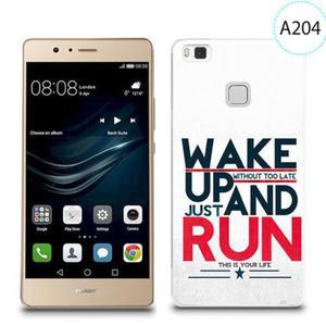 Etui silikonowe z nadrukiem do Huawei P9 lite - wake up without too late just and run - 2834655844