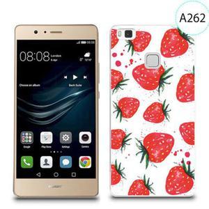 Etui silikonowe z nadrukiem do Huawei P9 Lite - truskawki - 2834655861