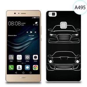 Etui silikonowe z nadrukiem do Huawei P9 Lite - auto audi porsche - 2834655934