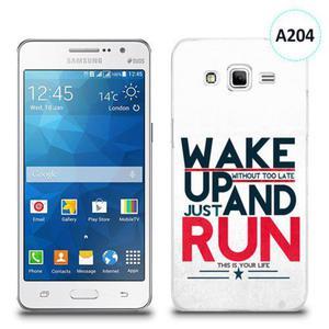 Etui silikonowe z nadrukiem Samsung Galaxy Grand Prime - wake up without too late just and run - 2834656000