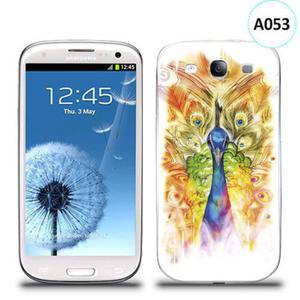 Etui silikonowe z nadrukiem Samsung Galaxy S3 - paw malowany - 2835854303