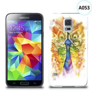 Etui silikonowe z nadrukiem Samsung Galaxy S5 - paw malowany - 2835854453