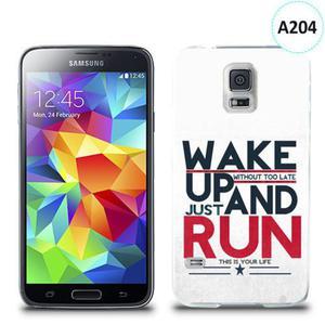 Etui silikonowe z nadrukiem Samsung Galaxy S5 - wake up without too late just and run - 2835854498