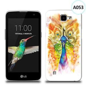 Etui silikonowe z nadrukiem LG K4 - paw malowany