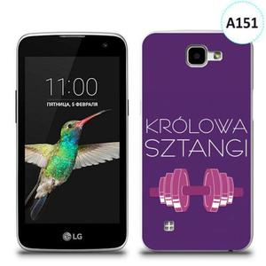 Etui silikonowe z nadrukiem LG K4 - królowa sztangi - 2836066605