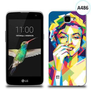 Etui silikonowe z nadrukiem LG K4 - merlin z papierosem - 2836066719