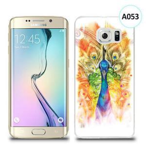 Etui silikonowe z nadrukiem Samsung Galaxy S6 Edge Plus - paw malowany - 2836066753