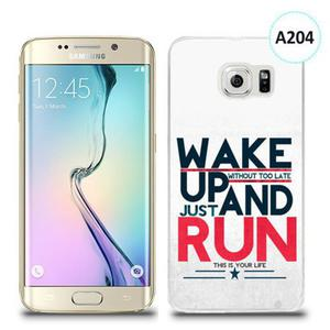 Etui silikonowe z nadrukiem Samsung Galaxy S6 Edge Plus - wake up without too late just and run - 2836309809