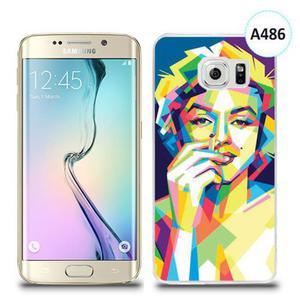 Etui silikonowe z nadrukiem Samsung Galaxy S6 Edge Plus - merlin z papierosem - 2844979647