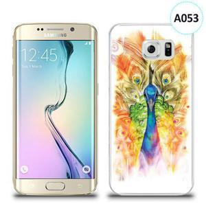 Etui silikonowe z nadrukiem Samsung Galaxy S6 Edge - paw malowany - 2836309942