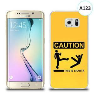 Etui silikonowe z nadrukiem Samsung Galaxy S6 Edge - this is sparta - 2836309948