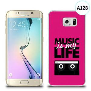 Etui silikonowe z nadrukiem Samsung Galaxy S6 Edge - music is my life - 2836309950