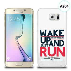 Etui silikonowe z nadrukiem Samsung Galaxy S6 Edge - wake up without too late just and run - 2836309980
