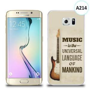 Etui silikonowe z nadrukiem Samsung Galaxy S6 Edge - music is the universal language of mankind - 2836309985