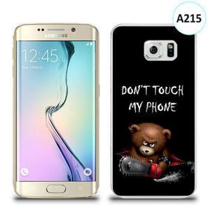 Etui silikonowe z nadrukiem Samsung Galaxy S6 Edge - don't touch my phone bear - 2836309986