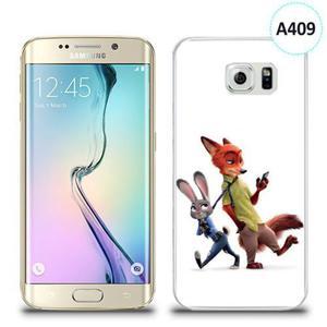 Etui silikonowe z nadrukiem Samsung Galaxy S6 Edge - zwierzogród - 2836309791